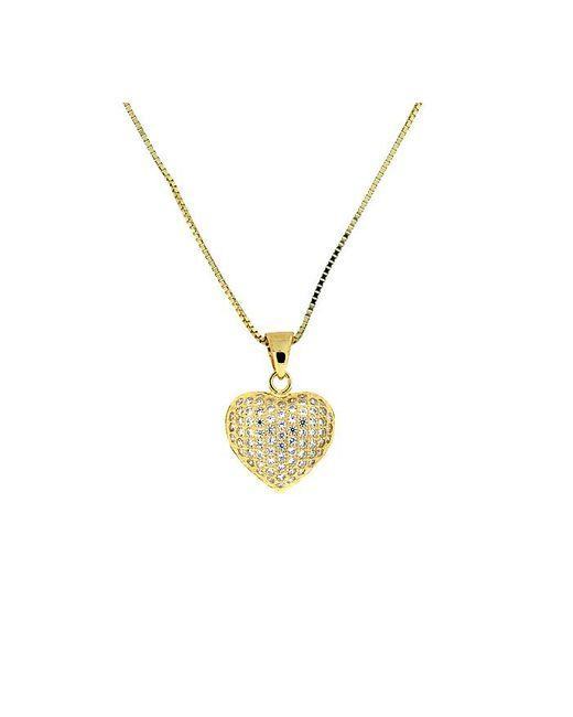 Azendi | Metallic Yellow Gold Vermeil Pave Heart | Lyst