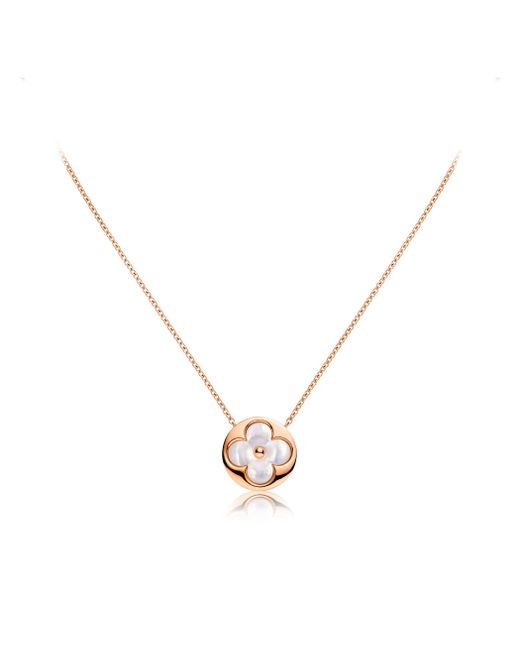 Louis Vuitton | Color Blossom Sun Pendant, Pink Gold And White Mother-of-pearl | Lyst