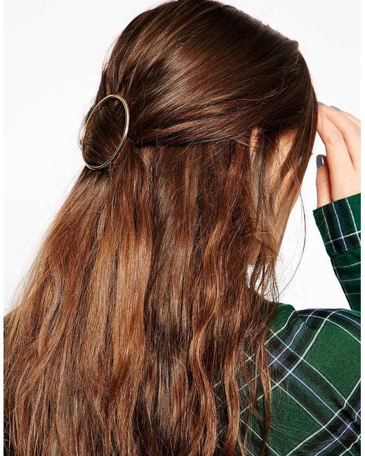 ASOS | Metallic Circle Hair Brooch | Lyst