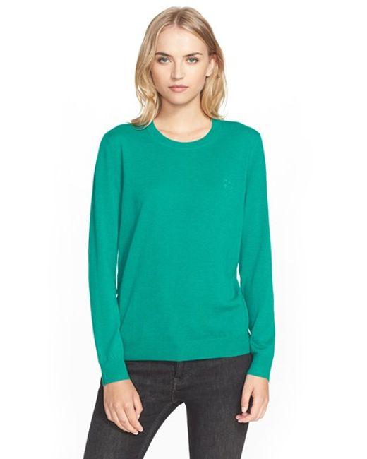 Burberry Brit   Blue Cashmere Crewneck Sweater   Lyst