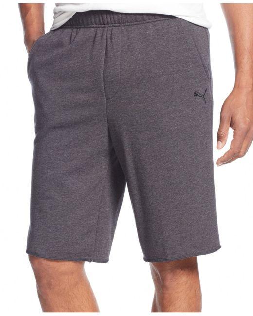 PUMA   Gray Men's Sweat Shorts for Men   Lyst
