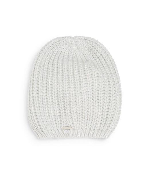 Calvin Klein   Natural Metallic Marled-knit Beanie   Lyst