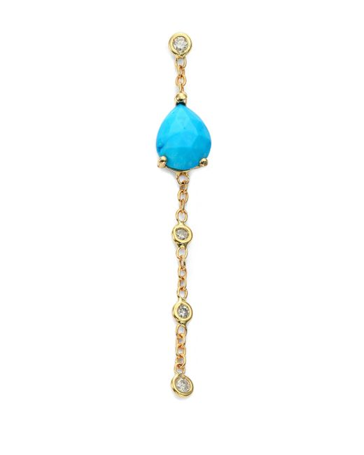 Jacquie Aiche | Metallic Turquoise, Diamond & 14k Yellow Gold Chain Single Drop Earring | Lyst