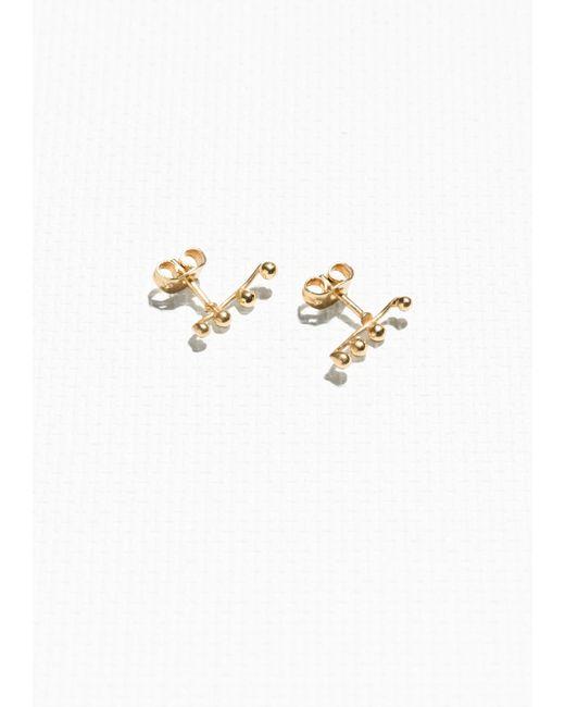 & Other Stories | Metallic Crawler Earrings | Lyst