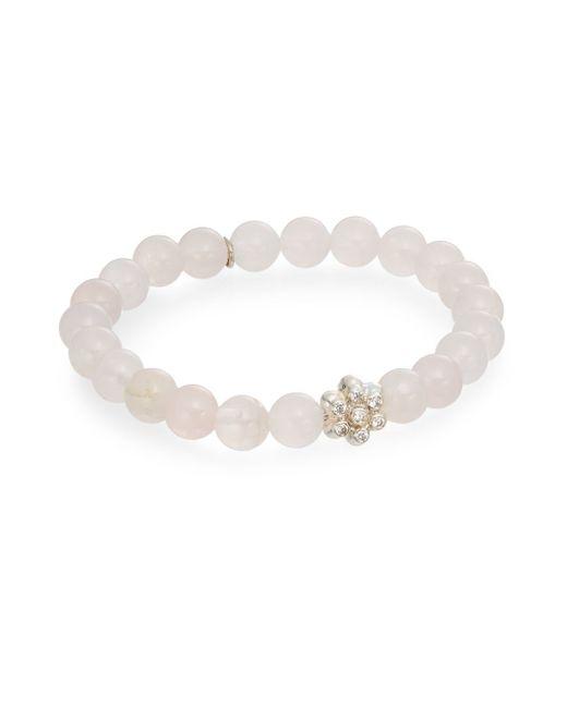 Anzie | Pink Boheme Rose Quartz & Sterling Silver Bracelet | Lyst
