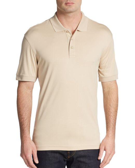 Saks Fifth Avenue | Natural Slim-fit Cotton Polo Shirt for Men | Lyst