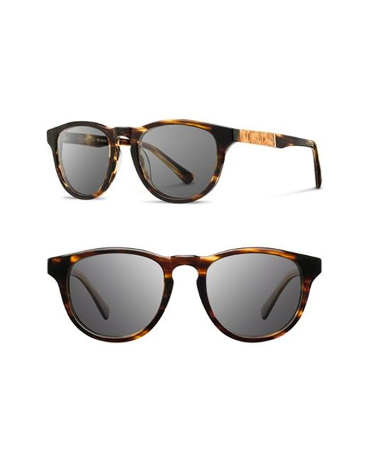 Shwood | Brown 'francis' 49mm Polarized Sunglasses for Men | Lyst