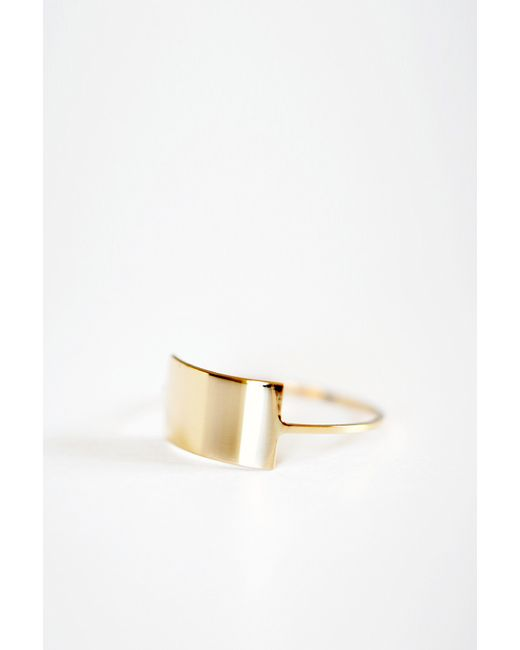 Kristen Elspeth | Metallic Gold Shield Ring | Lyst