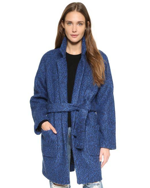 Ganni   Blue Washington Street Coat   Lyst