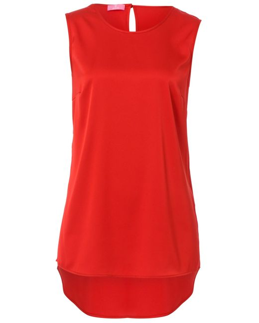Basler | Red Long-top With Mullet Seam | Lyst