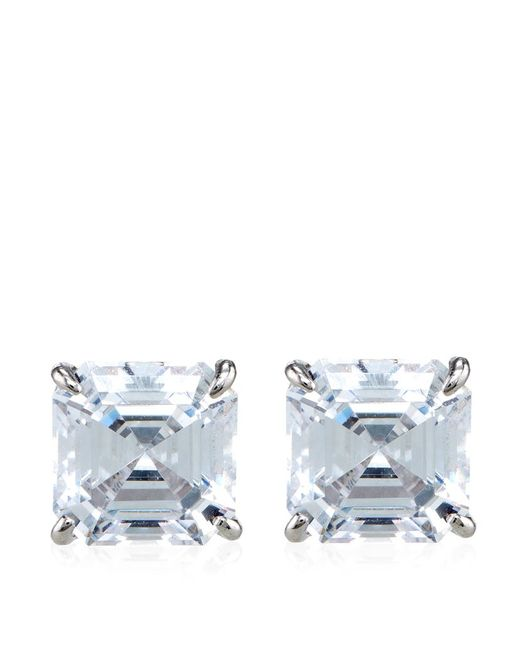 Carat* | Metallic Asscher Stud Earrings | Lyst