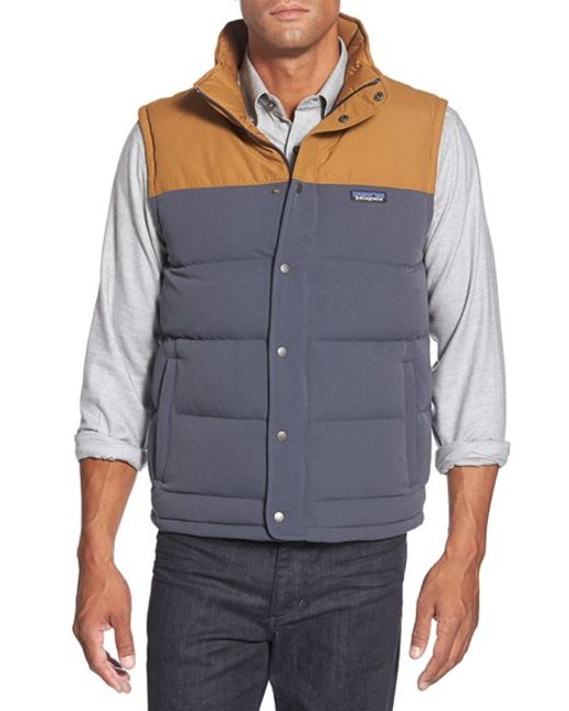 Patagonia | Blue 'bivy' Water Repellent Traceable 600 Fill Power Down Vest for Men | Lyst