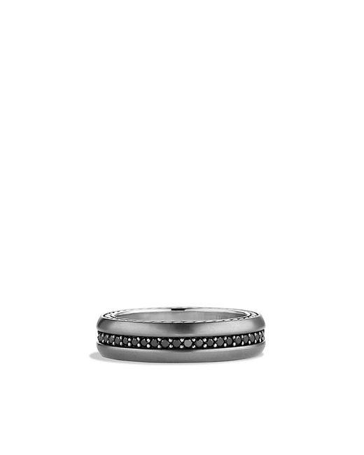 David Yurman | Streamline Narrow Band Ring With Black Diamonds for Men | Lyst