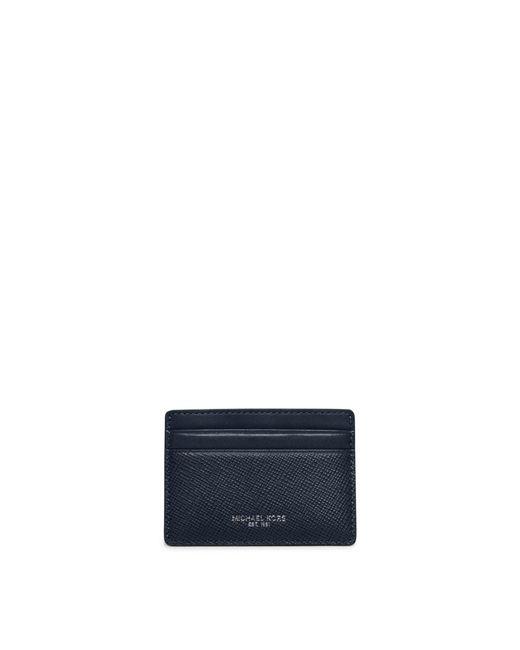 Michael Kors | Blue Harrison Leather Card Case for Men | Lyst