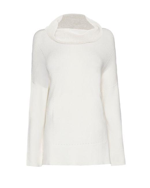 James Lakeland | White Cowl Neck Knitwear | Lyst