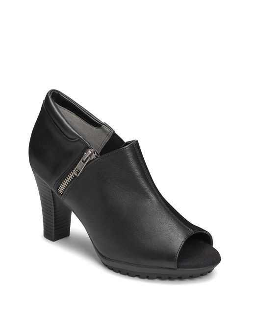 Aerosoles | Black Bird Cage Faux Leather Booties | Lyst