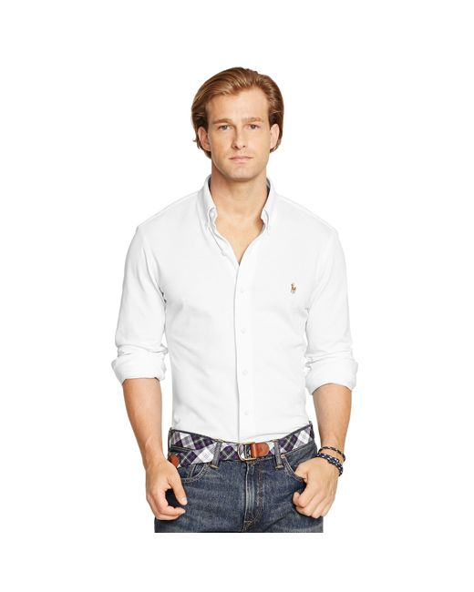 Polo Ralph Lauren | White Knit Oxford Shirt for Men | Lyst