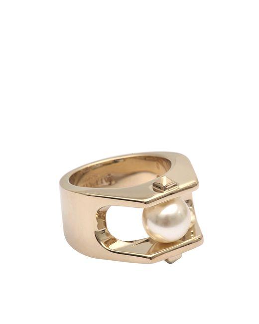 Valentino | Metallic Pearl Ring | Lyst