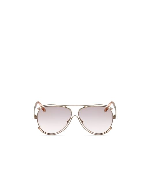 Chloé | Pink Isidora Aviator Sunglasses, 61mm | Lyst