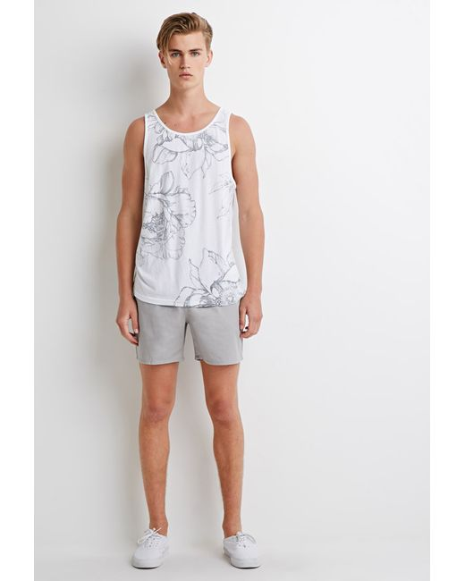 Forever 21 | Gray Elasticized Chino Shorts for Men | Lyst