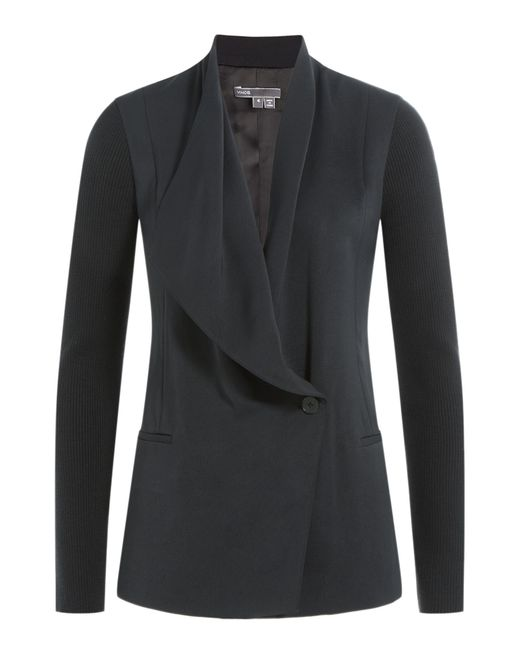 VINCE | Draped Blazer - Black | Lyst