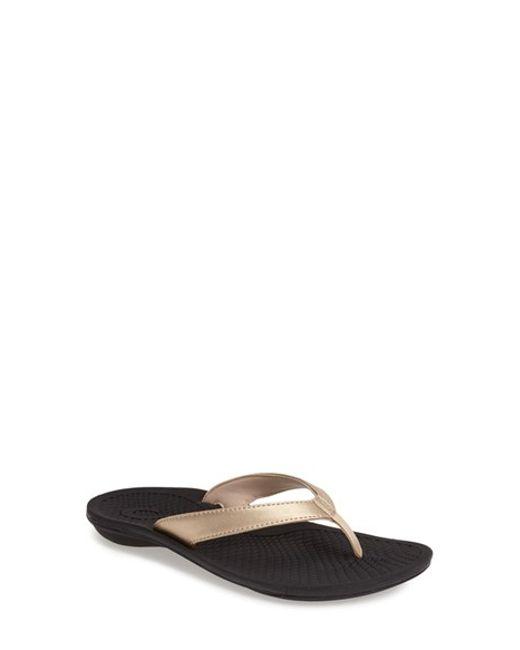 Olukai | Black 'oho' Thong Sandal | Lyst