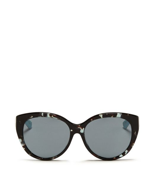 Dior montaigne Acetate Round Optical Glasses in Blue ...