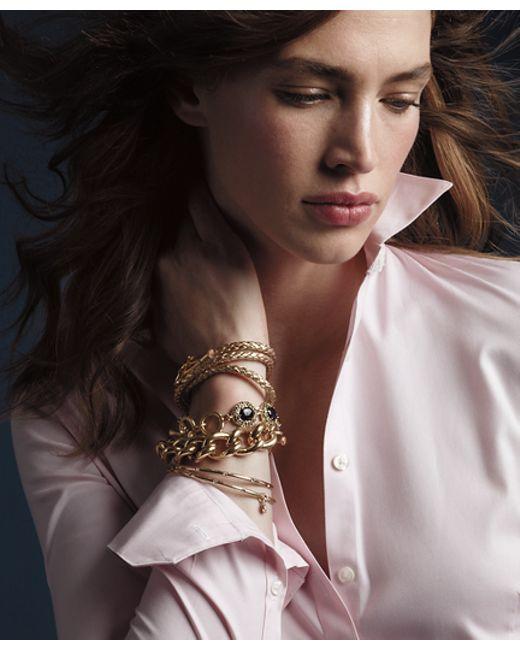 Brooks Brothers | Metallic Kiel James Patrick Leather Wrap Bracelet | Lyst