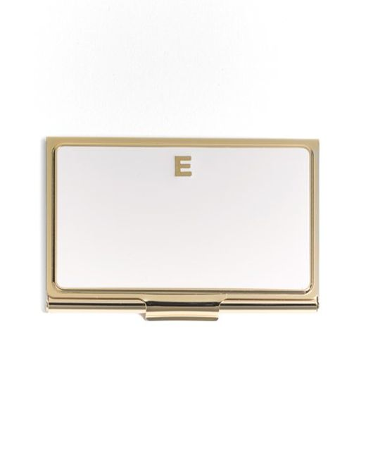 Kate Spade | Metallic One In A Million Business Card Holder | Lyst