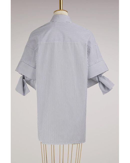 Cotton striped bow sleeve Shirt Victoria Beckham 9fkb5SXK7W