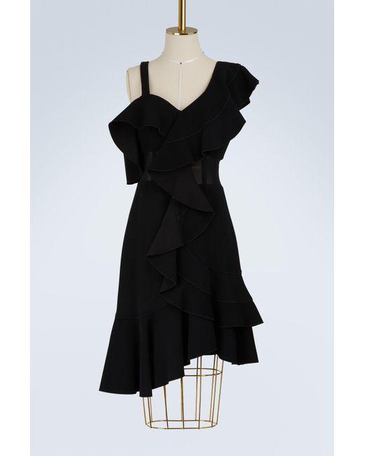 Proenza Schouler - Black Asymetrical Dress - Lyst