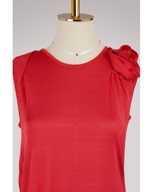 Asymmetrical viscose dress Lanvin gZLW6RThzc
