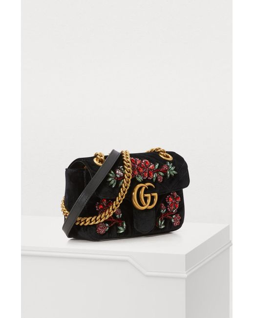 f0b3dd81d60 ... Gucci - Multicolor GG Marmont Velvet Mini Bag - Lyst ...