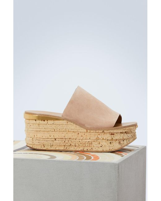 29a1d4661aa7 Chloé - Multicolor Camille Leather Mules - Lyst ...