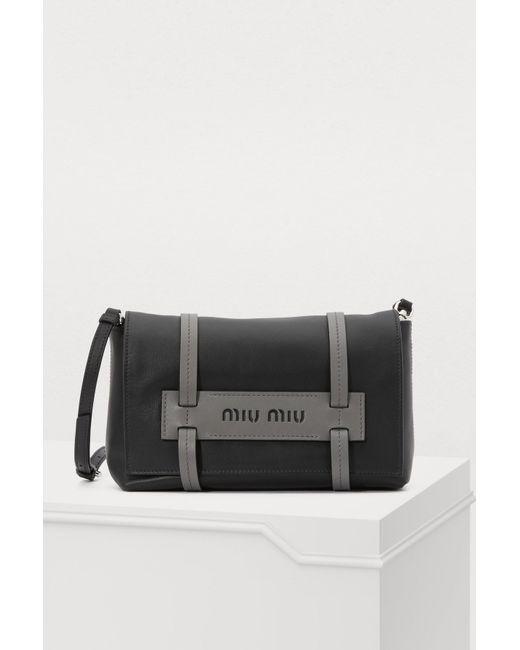 5b69dd9446 Miu Miu - Black Grace Lux Crossbody Bag - Lyst ...