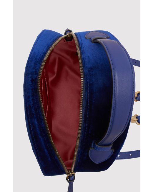 5584e2d3238 ... Gucci - Blue GG Marmont Velvet Backpack - Lyst