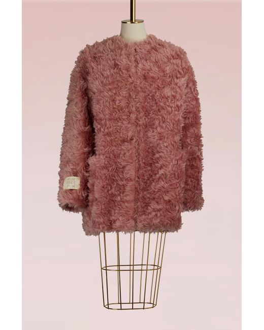 Stella McCartney - Multicolor Elina Mohair Coat - Lyst