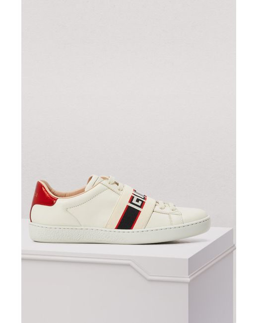 f8eaee11590 Gucci - White New Ace Sneakers - Lyst ...