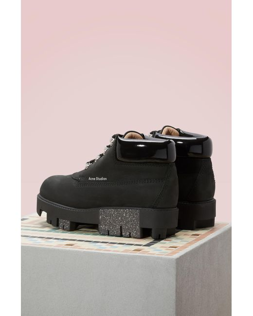 Acne Cushioned Tinne Ankle Boots cPyFrewRTl