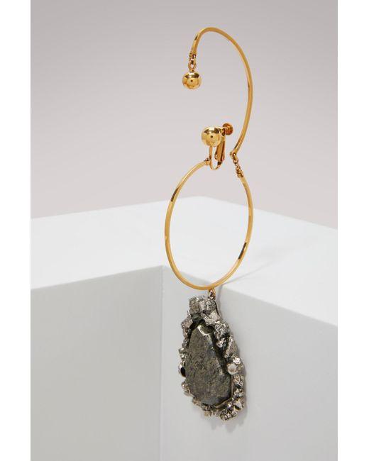 Alexander McQueen - Multicolor Brass Earring - Lyst