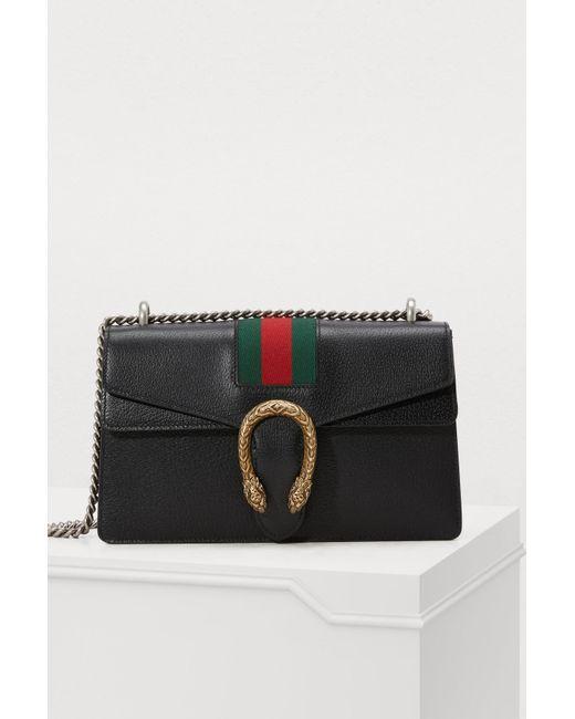 Gucci Dionysus Leather Shoulder Bag in Black - Save 52% - Lyst 6757d35b3fa26