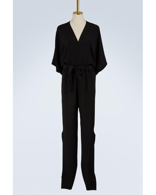 Roland Mouret - Black Millbridge Silk Cr��pe Jumpsuit - Lyst