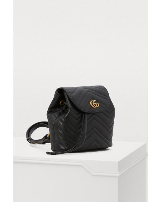 43b70a266 ... Gucci - Black GG Marmont Small Backpack - Lyst ...