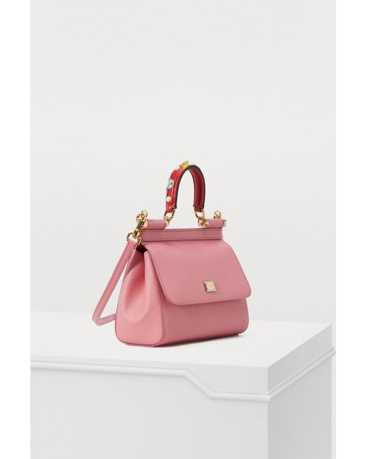 d04b0a89557c ... Lyst Dolce   Gabbana - Pink Sicily Pm Shoulder Bag ...
