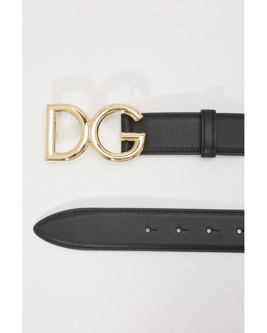 7aab94ee695f ... Lyst Dolce   Gabbana - Black Dg Belt ...