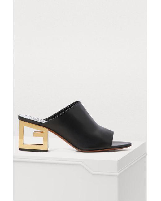 0f1deadfaf70 Givenchy - Black Triangle Mules - Lyst ...