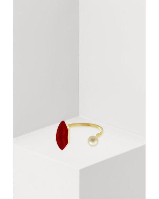 Delfina Delettrez - Multicolor Lips Piercing Ring - Lyst