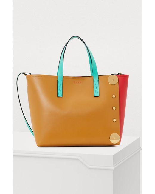 fd9da73cd525 Marni - Multicolor Punch Museo Shopping Bag - Lyst ...