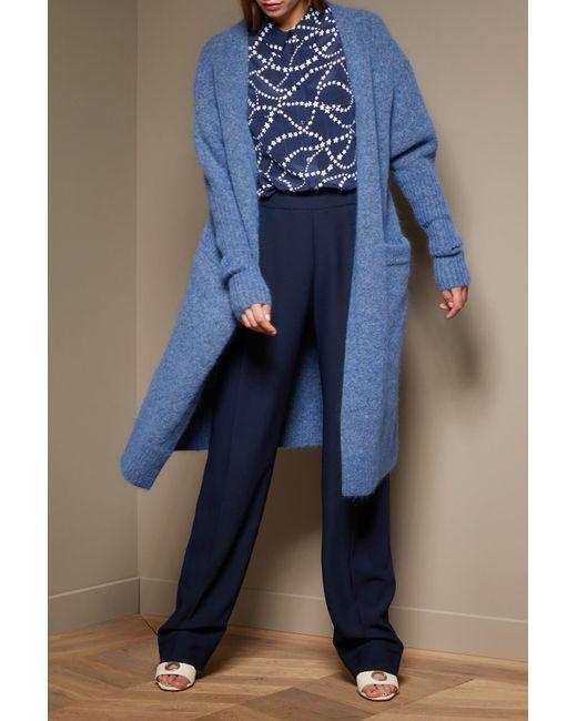 Acne | Blue Mohair Raya Coat | Lyst