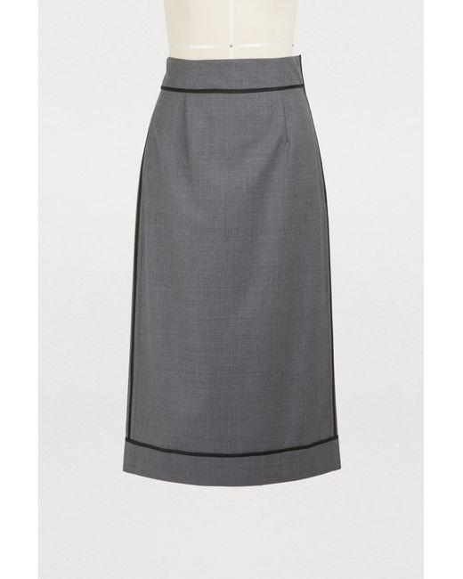 Gauchère - Gray Marilyn Wool Skirt - Lyst